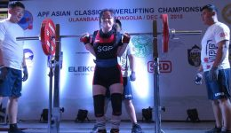 Thor Qian Qi, 19, with a 130kg squat at 52kg bw