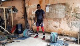 Jean Baptiste Weight Lifter In Africa